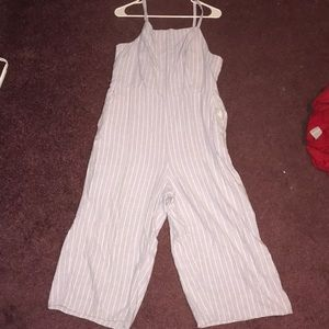 Lavender and White striped jumpsuit